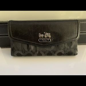 COACH monogram women's wallet Black